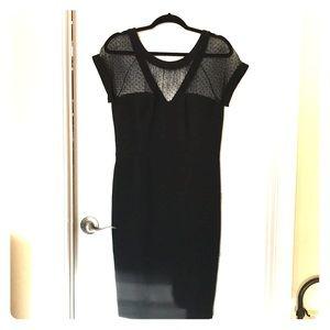 Black Sheer Sheath Dress by WHBM